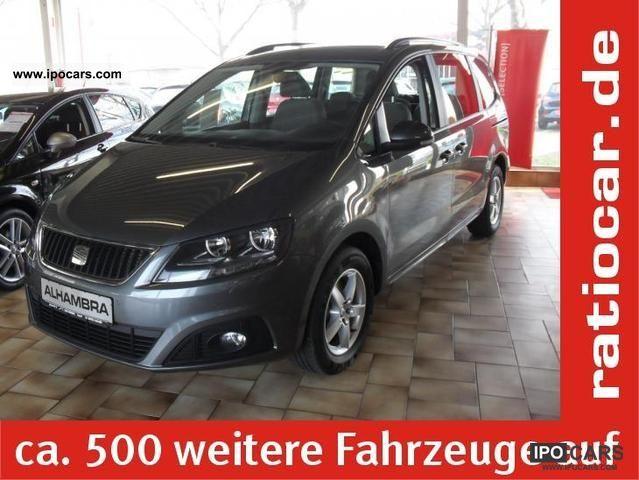 2012 Seat  ALHAMBRA 2.0 STYLE CLIMATE ESP EURO5 SITZHEIZUNG Van / Minibus Employee's Car photo