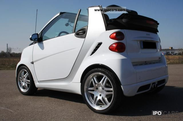 2008 smart brabus cabriolet original 98 hp brown leather car photo and specs. Black Bedroom Furniture Sets. Home Design Ideas