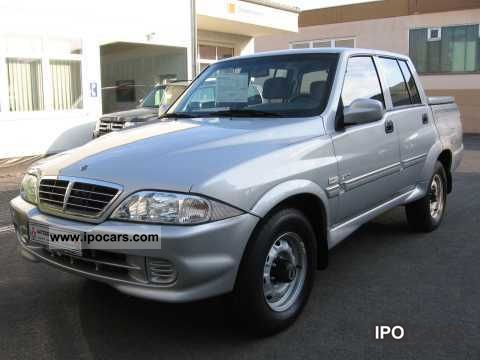 2006 ssangyong musso 2 9 td l pick up air car photo and specs. Black Bedroom Furniture Sets. Home Design Ideas