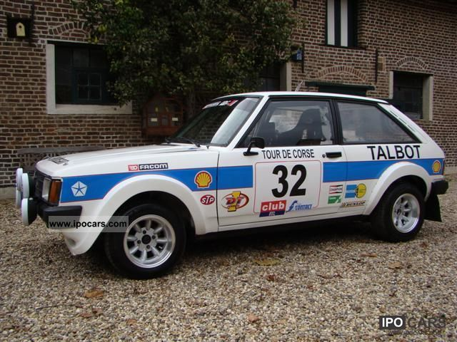 Talbot  Sunbeam - Rally car 1980 Race Cars photo