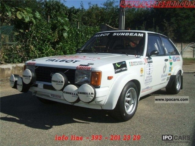Talbot  Samba 1.6 Sumbeam ti - no rally Gr2 Lotus 1981 Race Cars photo