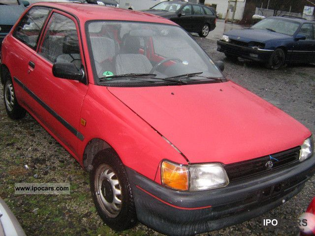 1991 Toyota  Starlet 1.3 XLi Small Car Used vehicle 			(business photo