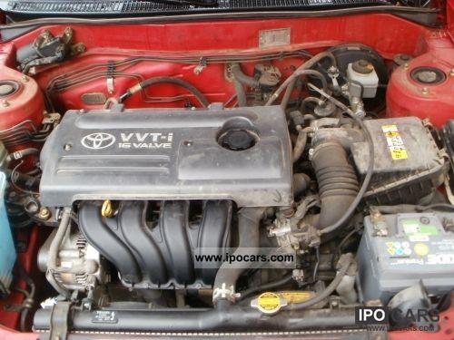toyota corolla piekna czerwien car photo  specs