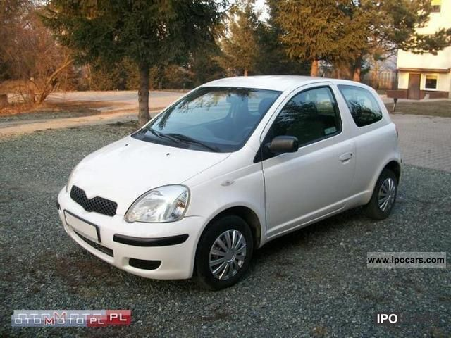 2003 toyota yaris 1 0 vvti lift polska salon car photo and specs. Black Bedroom Furniture Sets. Home Design Ideas