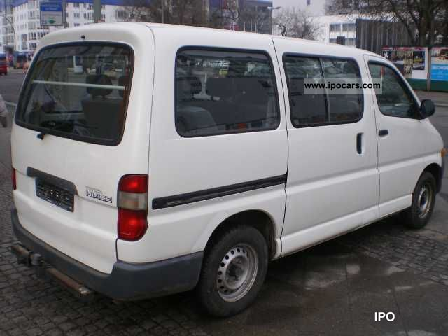 1999 Toyota Hiace 9 Seats Car Photo And Specs