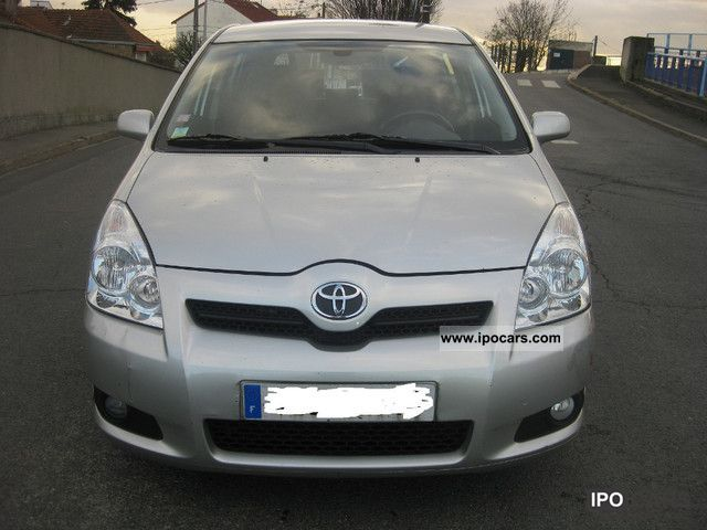 2007 toyota corolla verso 2 2 d 4d executive car photo and specs. Black Bedroom Furniture Sets. Home Design Ideas