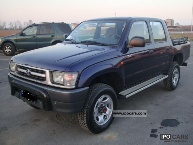 1999 toyota hilux 2 4 td 4wd 4p double cab pup dlx car photo and specs
