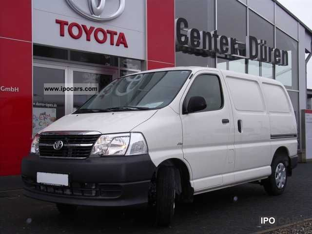 2010 Toyota  Hiace van 5 door 2.5 D-4D Van / Minibus Used vehicle photo