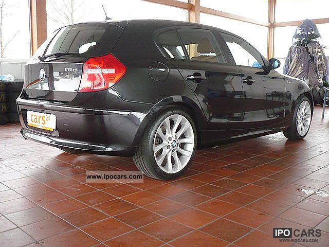 2008 bmw 118d dpf 2 0 4 door leather cruise control automatic climate car photo and specs. Black Bedroom Furniture Sets. Home Design Ideas