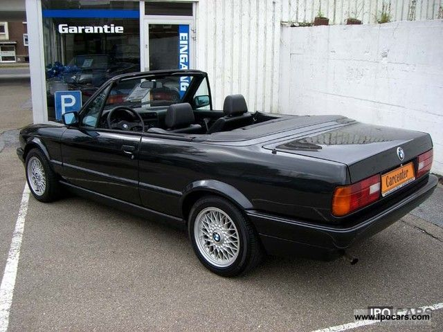 1991 bmw e30 318i convertible leather euro ii car photo and specs. Black Bedroom Furniture Sets. Home Design Ideas