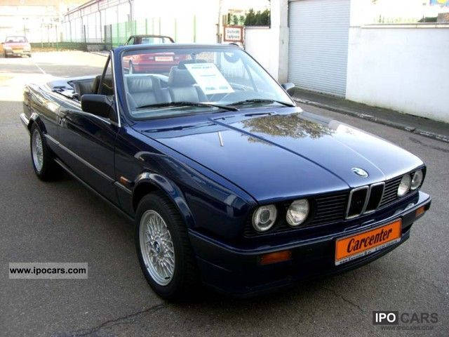 1991 bmw e30 318i convertible leather e roof car photo and specs. Black Bedroom Furniture Sets. Home Design Ideas