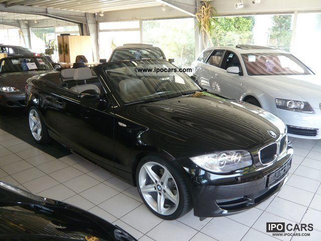 2008 bmw 120i convertible leather xenon 18 inch car photo and specs. Black Bedroom Furniture Sets. Home Design Ideas