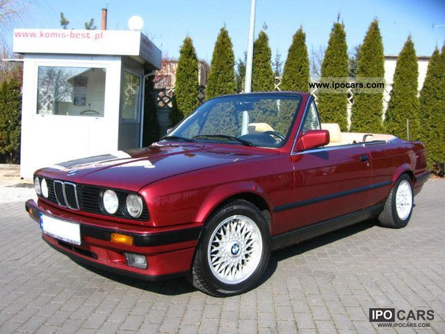 1991 bmw e30 325 convertible m technique car photo and specs. Black Bedroom Furniture Sets. Home Design Ideas