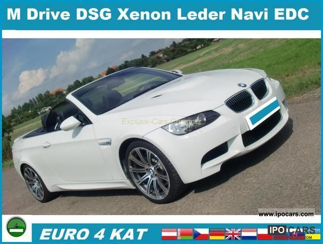 2008 BMW  M3 Convertible DKG NAVI XENON M Drive DVD LEATHER EDC Cabrio / roadster Used vehicle photo