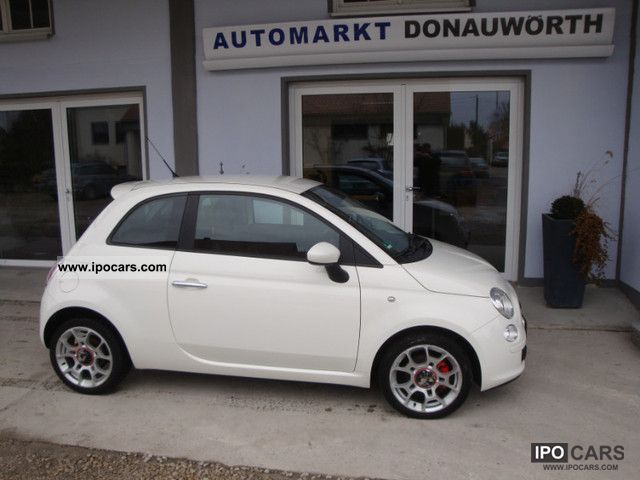 2008 fiat 500 1 4 16v sport pdc automatic air conditioning aluminum 16 inch car photo and specs. Black Bedroom Furniture Sets. Home Design Ideas