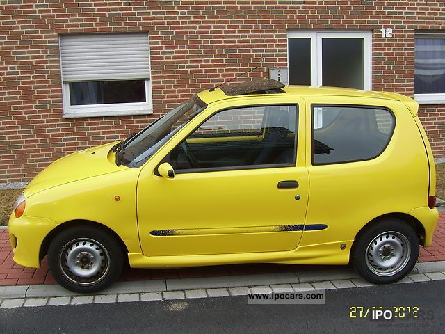 2000 fiat seicento 1 1 sporting car photo and specs. Black Bedroom Furniture Sets. Home Design Ideas