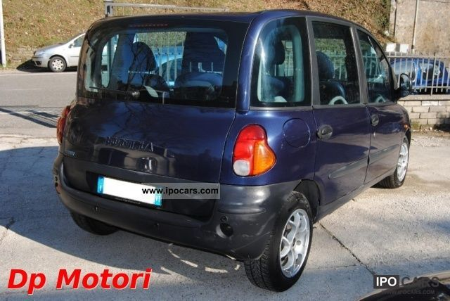 2000 fiat multipla jtd elx 105 car photo and specs. Black Bedroom Furniture Sets. Home Design Ideas