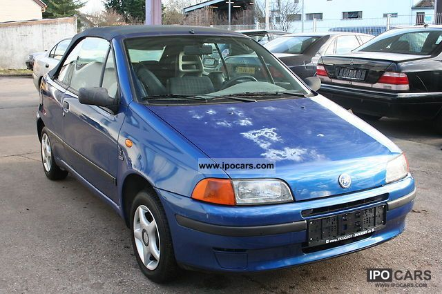 1996 fiat punto cabrio s car photo and specs. Black Bedroom Furniture Sets. Home Design Ideas