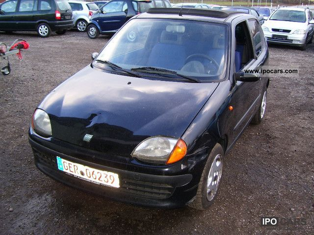 2000 Fiat  Seicento 1.1 hobby with convertible top (servo) Small Car Used vehicle photo
