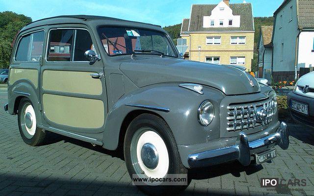 1953 Fiat  Topolino C Belvedere Giardinera Small Car Used vehicle photo