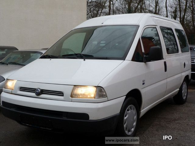 2001 fiat scudo 1 9 diesel 9xsitzer airbag 2001 car. Black Bedroom Furniture Sets. Home Design Ideas