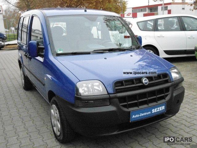 Fiat  Doblo 1.6 16V 103HP * EURO4 * LPG * AHK * 5 SEATS 2005 Liquefied Petroleum Gas Cars (LPG, GPL, propane) photo