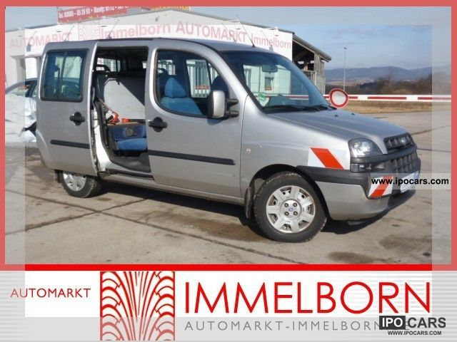 Fiat  Doblo 1.6 16V Natural Gas Navi + * AHK * Air Sliding 2005 Compressed Natural Gas Cars (CNG, methane, CH4) photo