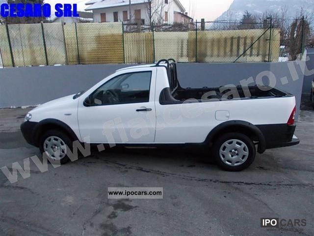 2008 fiat strada pick up 1 3 multijet 16v 85cv cabina co car photo and specs. Black Bedroom Furniture Sets. Home Design Ideas