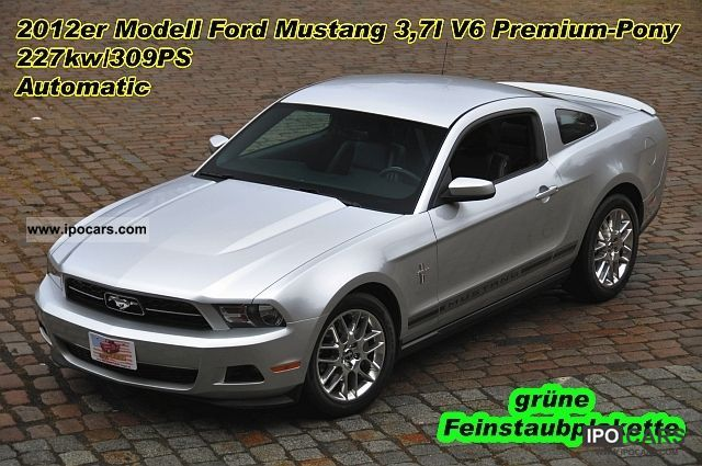 2011 Ford  Mustang 3.7 V6 Coupe Premium, Leather, Model 2012 Sports car/Coupe Used vehicle photo
