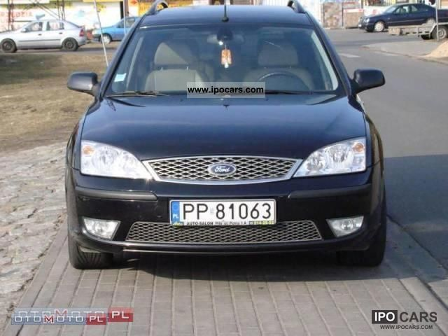 2006 ford mondeo 2 2 tdci ghia 155km bogaty bdb car photo and specs. Black Bedroom Furniture Sets. Home Design Ideas