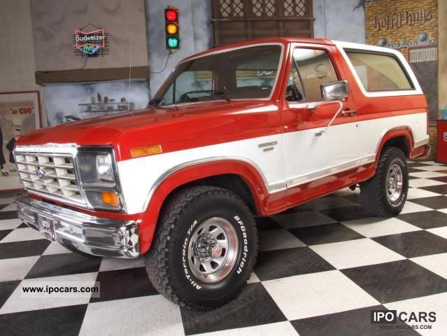1986 ford bronco xlt 4x4 car photo and specs. Black Bedroom Furniture Sets. Home Design Ideas