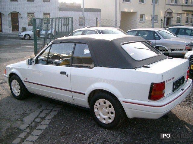 1986 Ford Escort XR3i