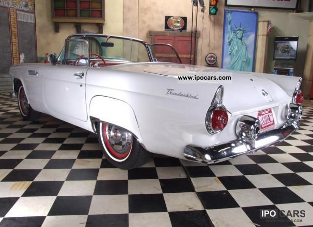 ford thunderbird tbird white car photo  specs