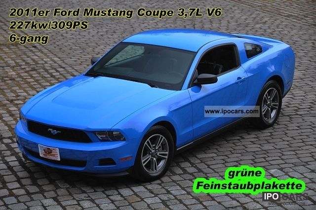 2011 Ford  Mustang Coupe 3.7 V6, leather, automatic, aluminum 17 \ Sports car/Coupe Used vehicle photo