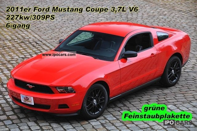 2011 Ford  Mustang Coupe 3.7 V6, leather, automatic, aluminum 18 \ Sports car/Coupe Used vehicle photo