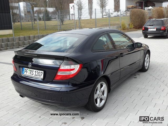 2005 mercedes-benz c 200 kompressor sports coupe sport edition +