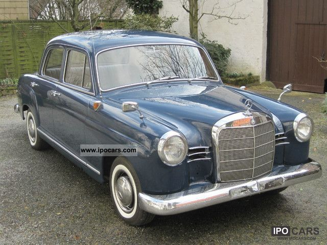 Mercedes-Benz  190 Diesel Ponton \ 1959 Vintage, Classic and Old Cars photo