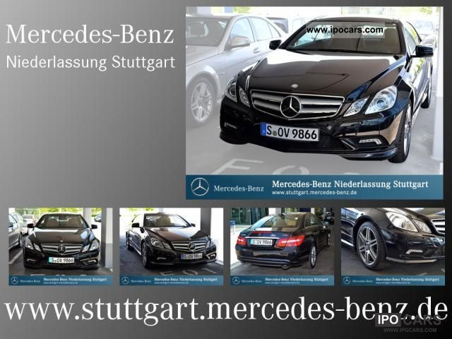 2011 Mercedes-Benz  E 350 CDI Sports Coupe BlueEFF leather panorama roof Sports car/Coupe Demonstration Vehicle photo