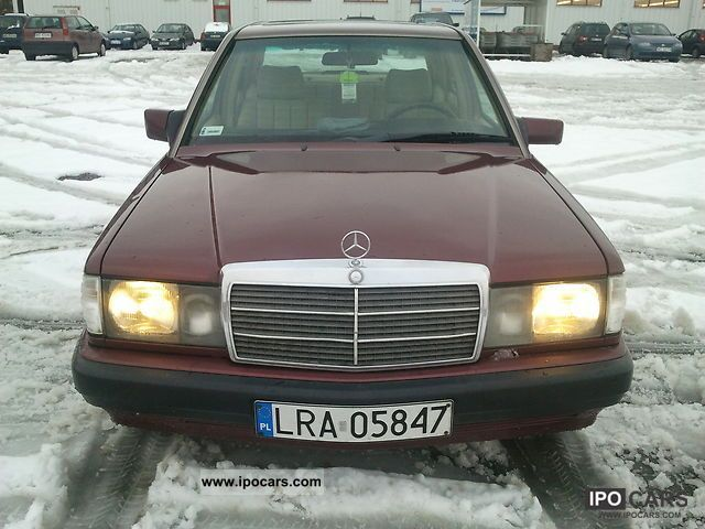 Mercedes-Benz  190 1992 Liquefied Petroleum Gas Cars (LPG, GPL, propane) photo