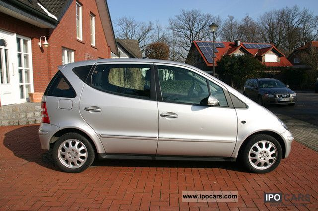 2003 mercedes benz a 160 elegance car photo and specs. Black Bedroom Furniture Sets. Home Design Ideas