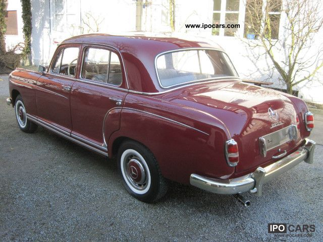 1957 mercedes benz 220s ponton car photo and specs for Mercedes benz 220 s