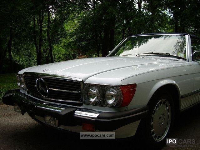 1989 mercedes benz sl 560 collectible card car photo for Mercedes benz card