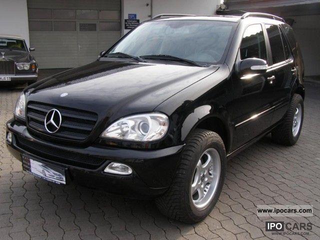 2002 mercedes benz ml 320 air leather aluminum navi for Mercedes benz ml 320 2002
