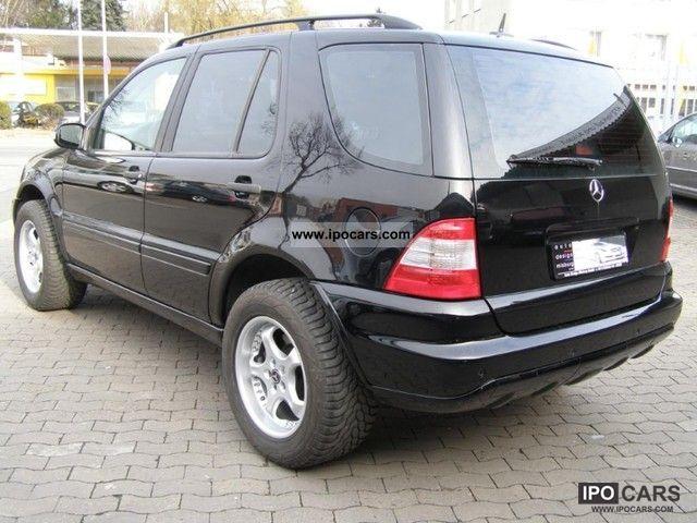 2002 mercedes benz ml 320 air leather aluminum navi for Mercedes benz ml 2002