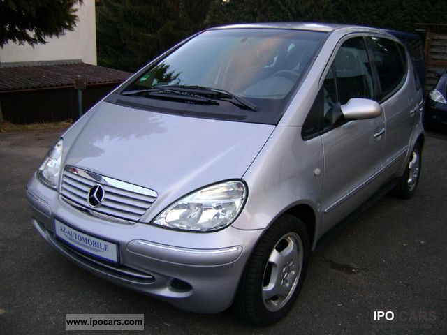 2002 mercedes benz a 160 l part leather avantgarde air long version car photo and specs. Black Bedroom Furniture Sets. Home Design Ideas
