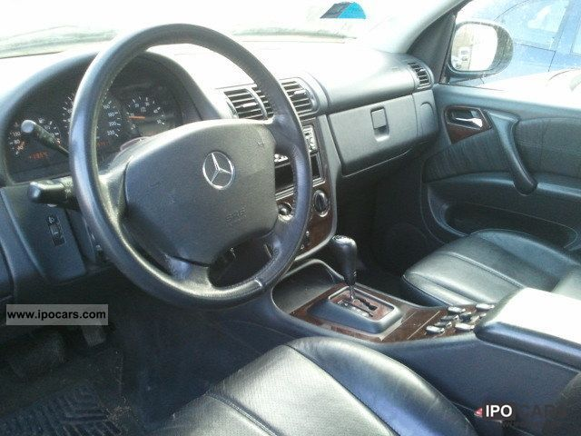 2001 mercedes benz ml 270 car photo and specs. Black Bedroom Furniture Sets. Home Design Ideas