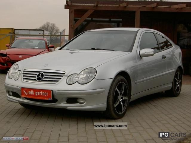 2001 Mercedes-Benz  C 180 2.0 i COUPE Zarejestrowane Sports car/Coupe Used vehicle photo