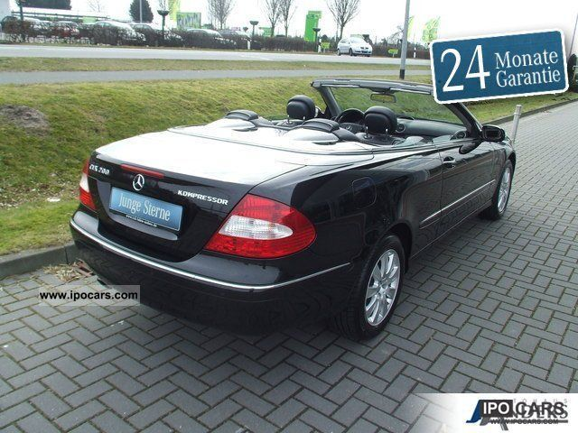 2008 mercedes benz clk 200 k cabriolet elegance leather. Black Bedroom Furniture Sets. Home Design Ideas