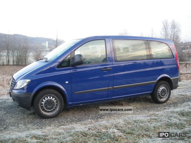 2006 mercedes benz vito 115 cdi compact 6 seater car photo and specs. Black Bedroom Furniture Sets. Home Design Ideas