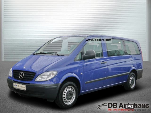 2008 mercedes benz vito 109 cdi long 8 sitzer klima efh easp car photo and specs. Black Bedroom Furniture Sets. Home Design Ideas